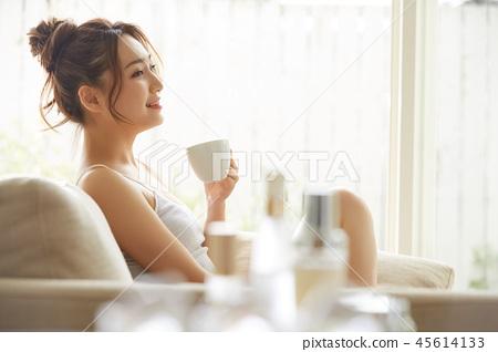 女性生活方式放鬆 45614133