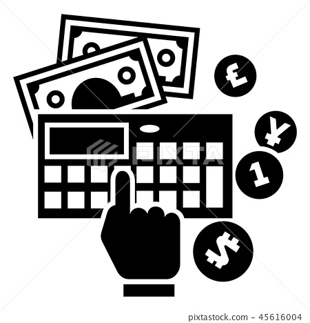 Accounting calculator icon, simple style 45616004