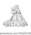 Vector cartoon illustration vehicle 45620238