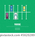 Parking zone poster in flat style 45620289