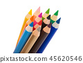 colored pencils isolated 45620546