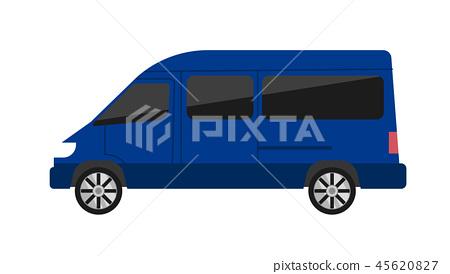 Modern minivan isolated illustration 45620827