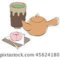 茶壺茶杯茶糖果 45624180