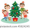 크리스마스 가족 트리 45624245