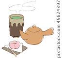 茶壺茶喝茶(帶蒸汽) 45624397