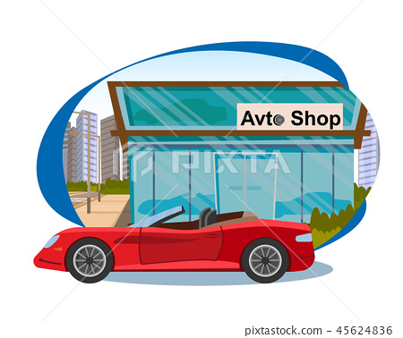 The Concept Sales of new Cars in Avto Shop 45624836