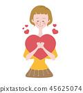 婦女心臟紅色有同情心的華倫泰 45625074