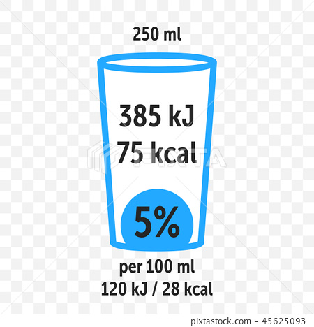 Drink beverage  food value label chart vector 45625093