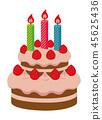 Birthday cake / Christmas cake illustration 45625436