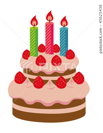 Christmas Birthday Cake.Birthday Cake Christmas Cake Illustration Stock