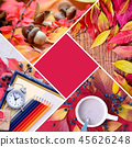 Autumn creative collage of photos.  45626248