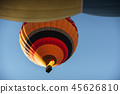 A group of colorful hot air balloons against 45626810