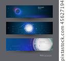 Vector banner design circuit board background 45627194
