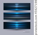 Vector banner, Metal frame design for background. 45627198
