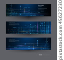 Vector banner set design circuit board 45627230
