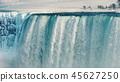 Fantastically beautiful Niagara Falls in winter 45627250