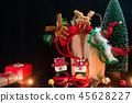 Beautiful decorated Christmas background 45628227