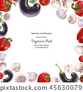 Watercolor square vegan frame by freshness 45630079