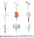 Collection of wind turbine generators. 45631751