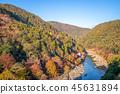 autumn, arashiyama, river 45631894