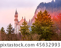 Neuschwanstein Castle sunset view, Germany 45632993