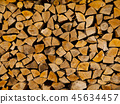 Stack of firewood 45634457
