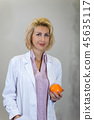 business portrait of a nutritionist caucasian female 45635117