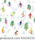 Ski sport in the mountains illustration 45636235