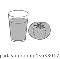 番茄汁和番茄單色灰度 45638017