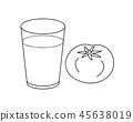 番茄汁和番茄著色頁 45638019