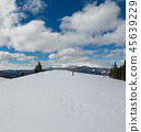 Winter snowy Carpathian mountains, Ukraine 45639229