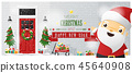 Decorated Christmas front door and Santa Claus 45640908