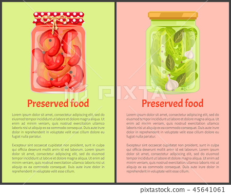 Preserved Food Poster Pickled Chilli and Cucumbers 45641061