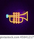 trumpet, instrument, icon 45641217
