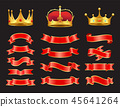 ribbon vector crown 45641264