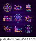 neon, radio, icon 45641279