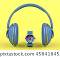 Big headphones and smart watch 45641645