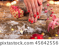 christmas, hand, ornament 45642556