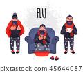 cold, sick, flu 45644087