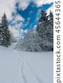 Winter mountain snowy landscape 45644365