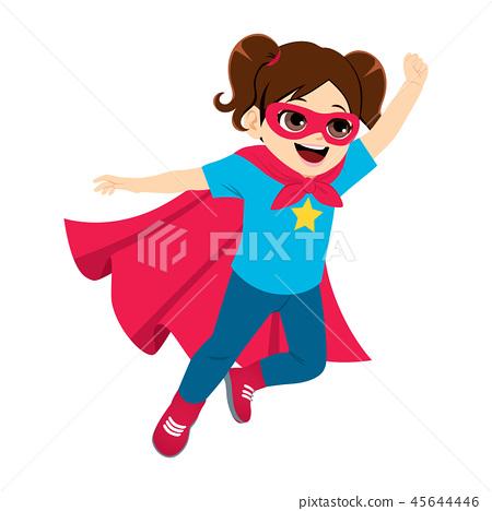 Super Hero Little Girl Flying 45644446
