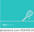 tennis racket ball 45644619