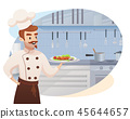 Concept illustration of the restaurant business 45644657