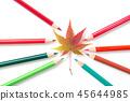 색연필과 낙엽 45644985