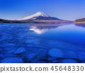 富士山在冬天 45648330