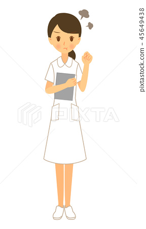 Occupation female nurse angry whole body 45649438