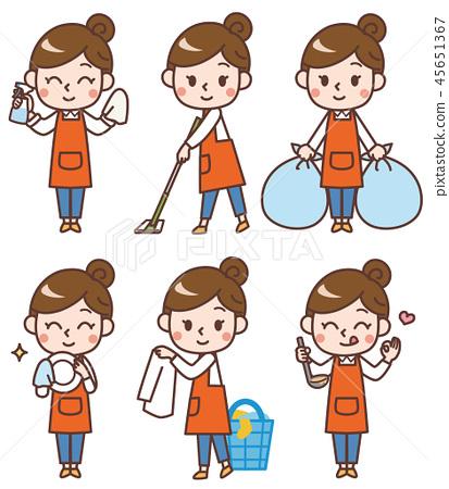 Housewife housework set 45651367