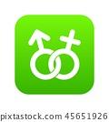 Gender symbol icon digital green 45651926