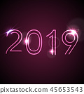 2019, neon, greeting 45653543