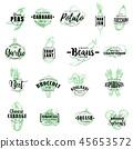 Farm vegetables vector sketch lettering 45653572